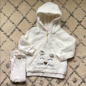 Juicy couture fleece pullover and leggings set 2t
